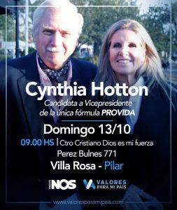 Frente Nos - Visita candidata a vicepresidenta
