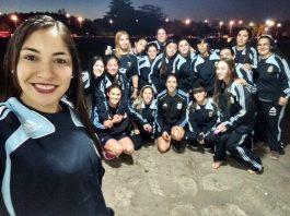 Selección de futbol femenino con SD