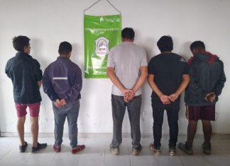 5 detenidos por violar el aislamiento obligatorio