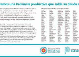 solicitada intendentes apoyo renegociacion de la deuda de la provincia