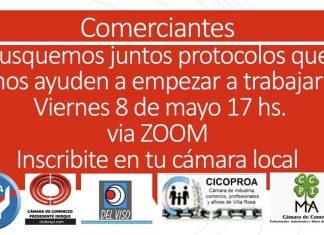 Cámaras de Comercio de Pilar proponen una reunion para delinear protocolos para trabajar