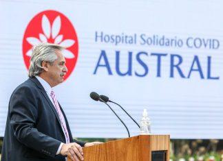 El presidente Alberto Fernández inauguró un hospital solidario de cuidados críticos COVID 19