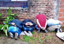 detención de 4 delincuentes