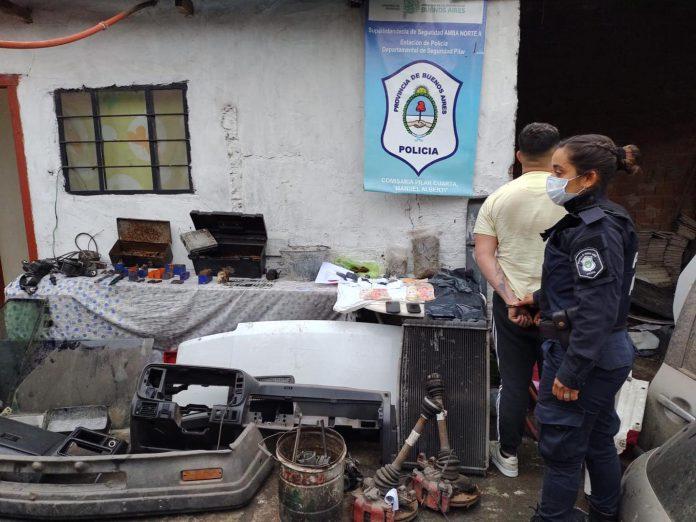 Desarticulan desarmadero de vehiculos en barrio los Perales