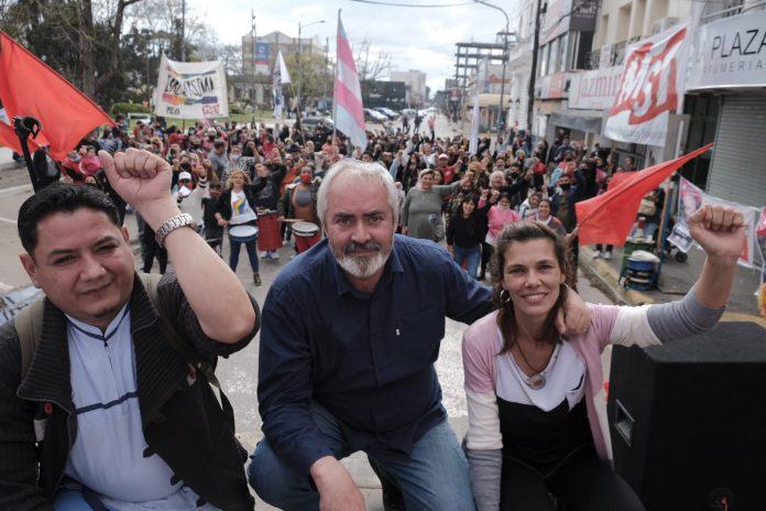 Alejandro Bodart cerró campaña en Pilar con Natalia Espasa